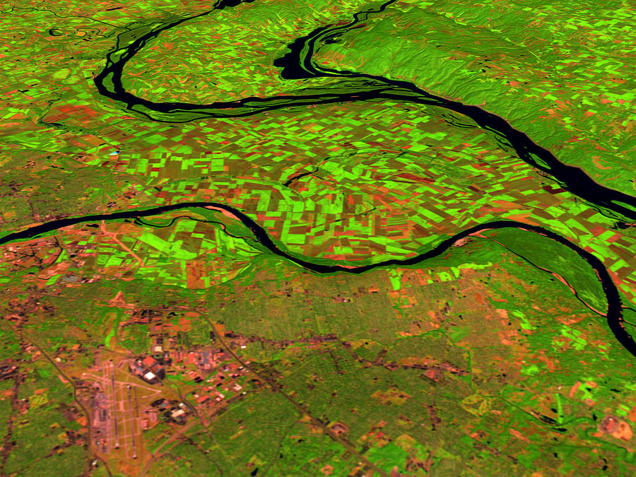 Satellite Image Photograph - Pre-flood Rivers by Nasagoddard Space Flight Center