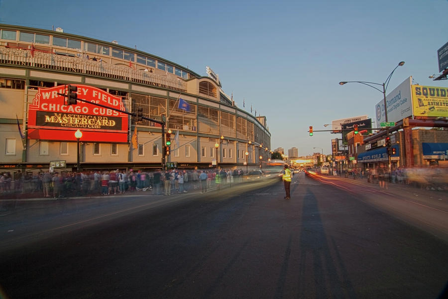 Pre-game Cubs Traffic Photograph
