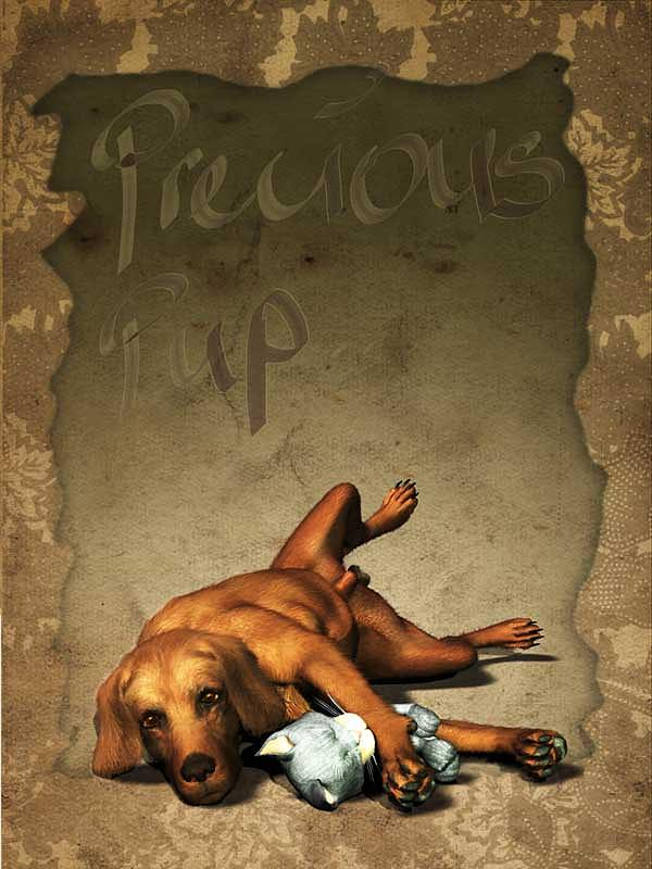 Precious Pup Customised Message Digital Art  - Precious Pup Customised Message Fine Art Print