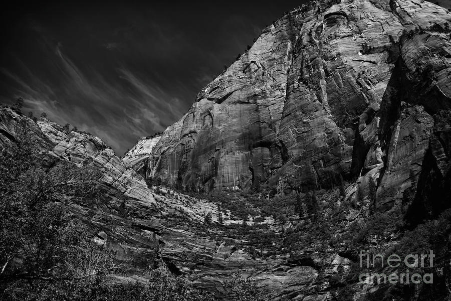 Precipice At Zion National Park Lll Photograph