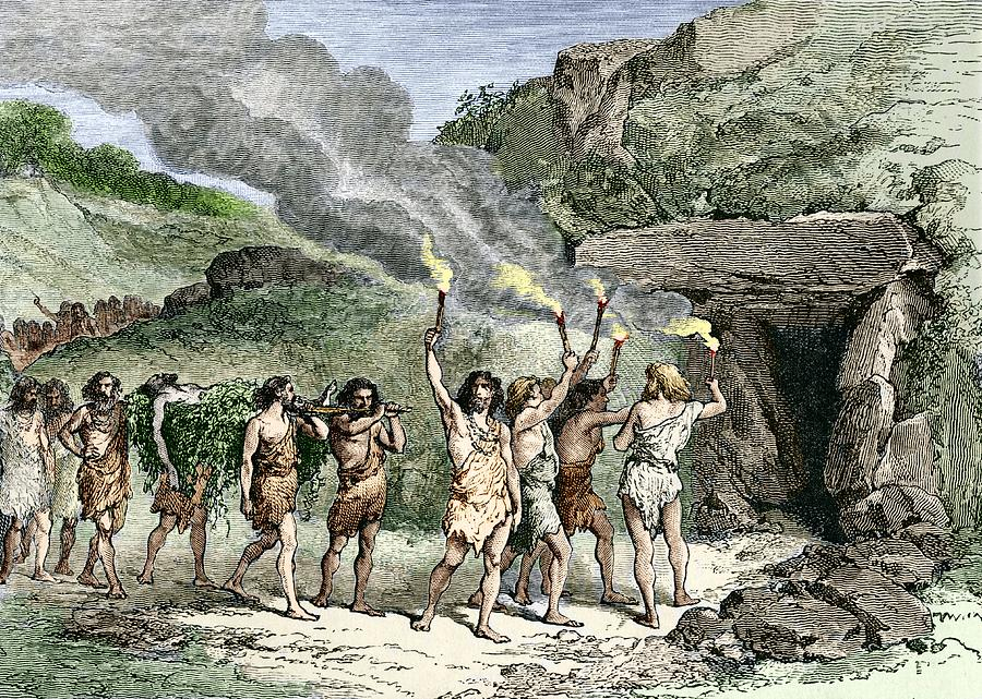 Prehistoric Human Funeral Photograph