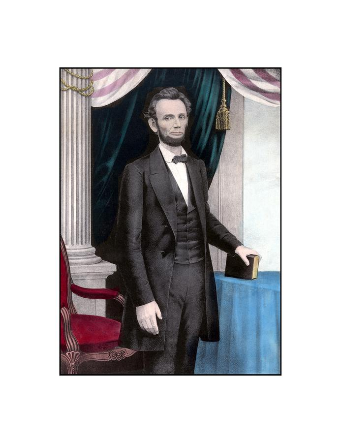 President Abraham Lincoln In Color Painting