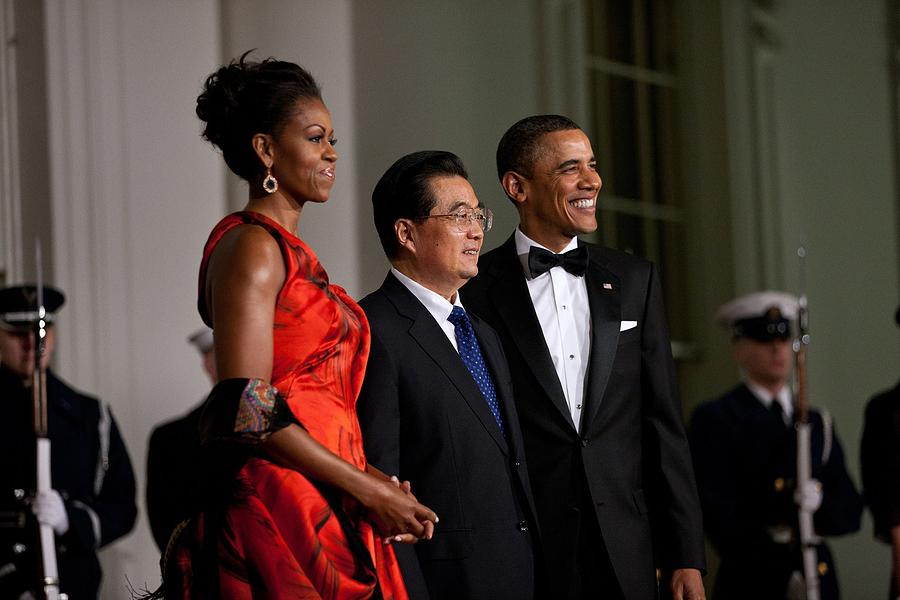 President And Michelle Obama Welcome Photograph