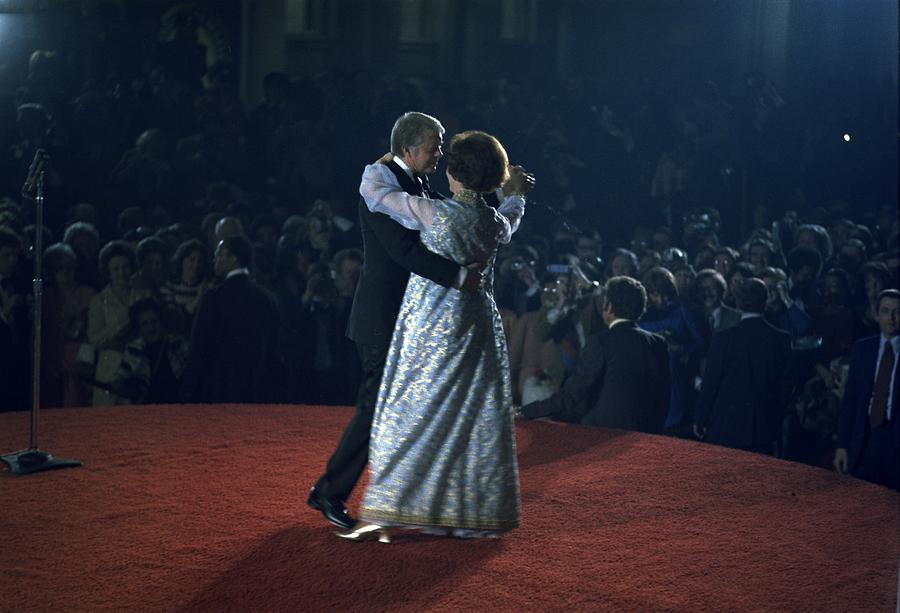 President And Rosalynn Carter Dancing Photograph