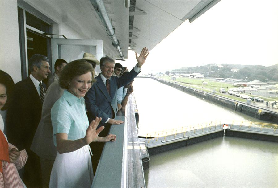 President And Rosalynn Carter Visit One Photograph