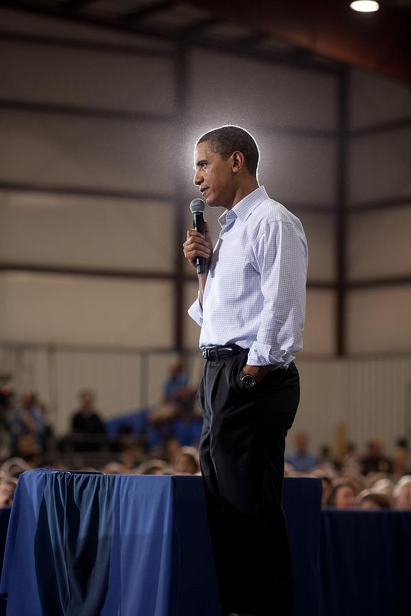 President Barack Obama At A Town Hall Photograph