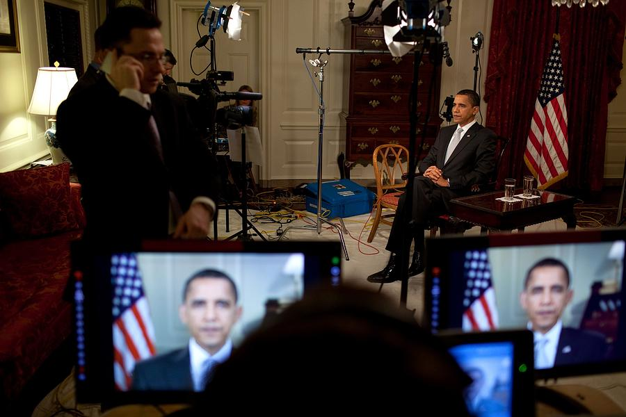President Barack Obama Conducting Photograph