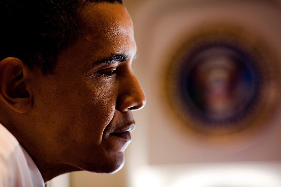 President Barack Obama During An Photograph