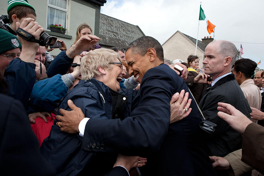 President Barack Obama Greets A Local Photograph