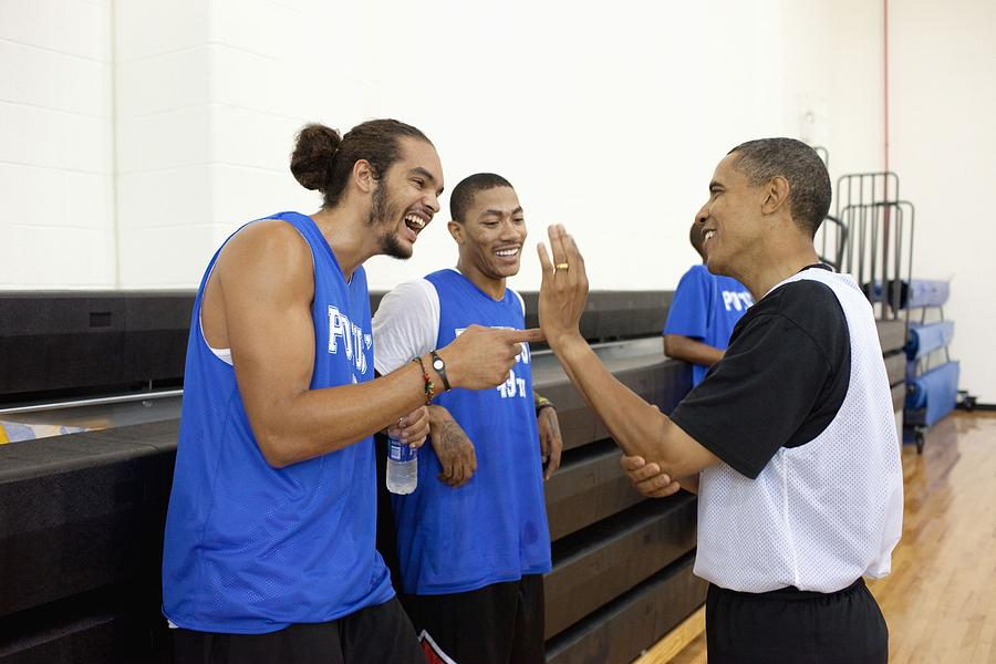 President Barack Obama Jokes Photograph