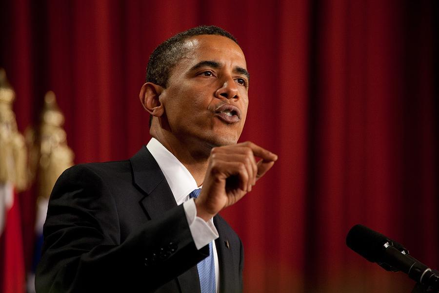History Photograph - President Barack Obama Making by Everett