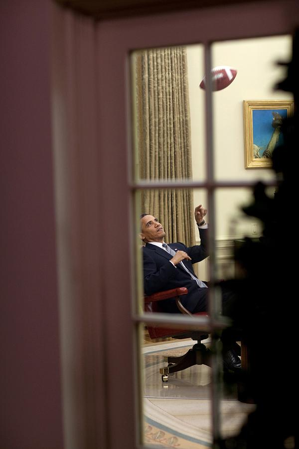 President Barack Obama Plays Photograph  - President Barack Obama Plays Fine Art Print