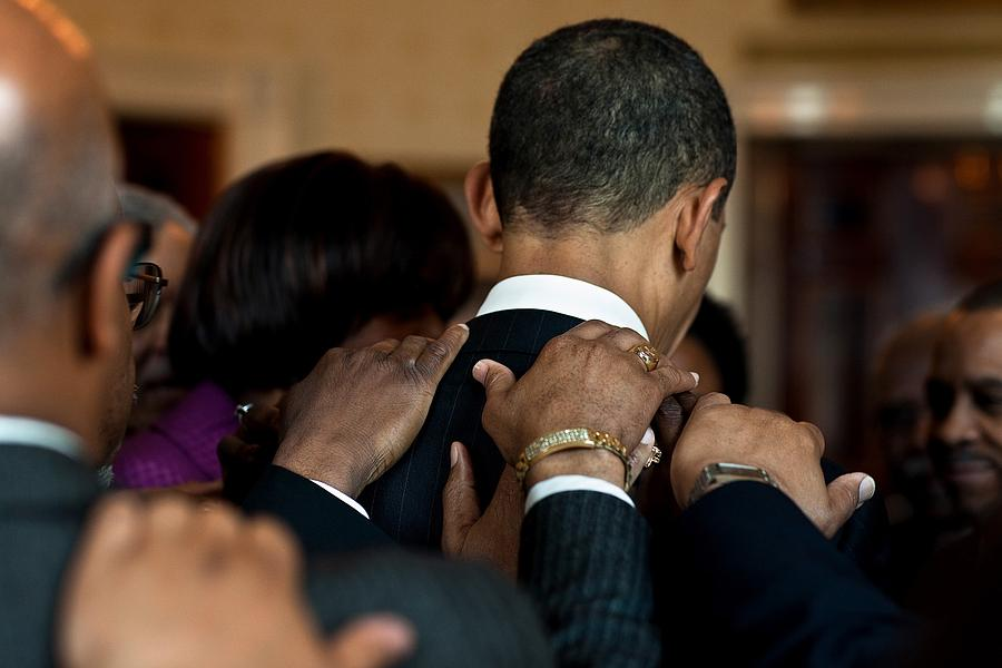 President Barack Obama Prays Photograph  - President Barack Obama Prays Fine Art Print