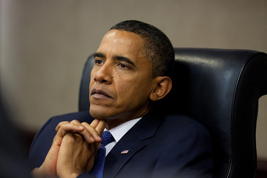 President Barack Obama Reflects Photograph  - President Barack Obama Reflects Fine Art Print
