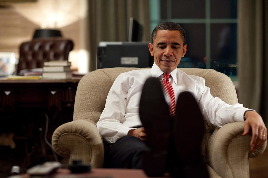 President Barack Obama Using Photograph  - President Barack Obama Using Fine Art Print