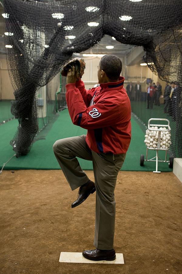 President Barack Obama Warms Photograph