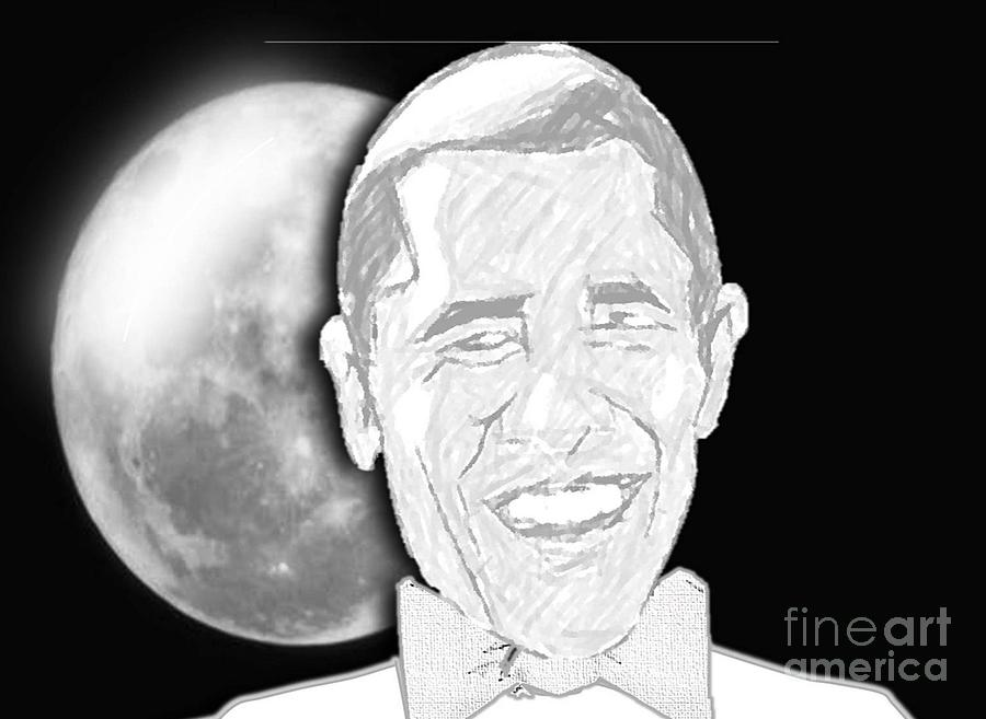 President  Barrack Obama Digital Art  - President  Barrack Obama Fine Art Print