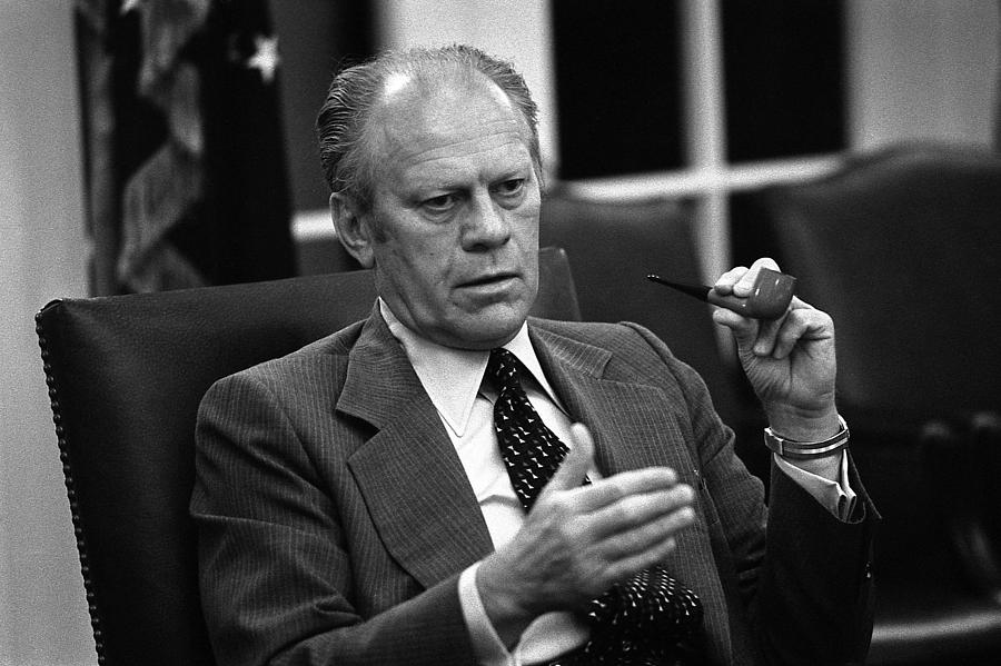 History Photograph - President Ford During A National by Everett