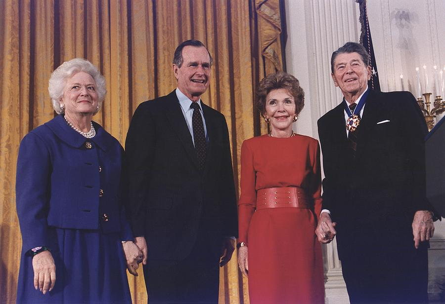 President George Bush Presents Photograph