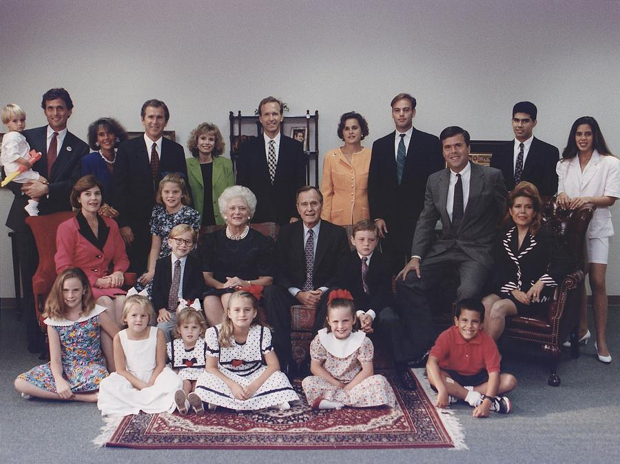 President George H. W. Bush And Wife Photograph