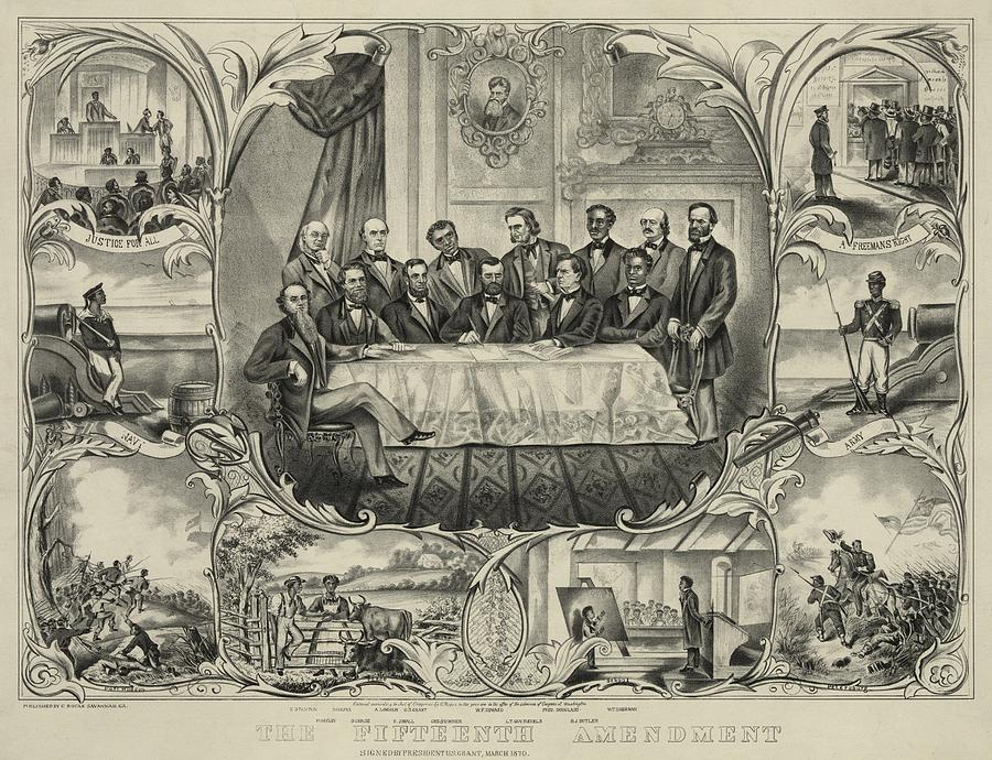 President Grant With Group Of Men Photograph