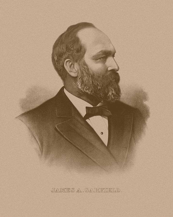 President James Garfield Drawing  - President James Garfield Fine Art Print