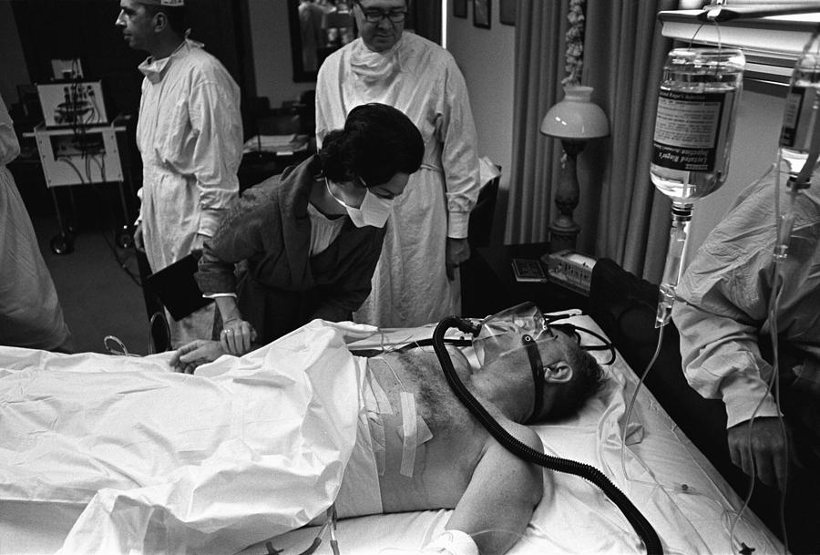 President Johnson After Surgery. Lady Photograph