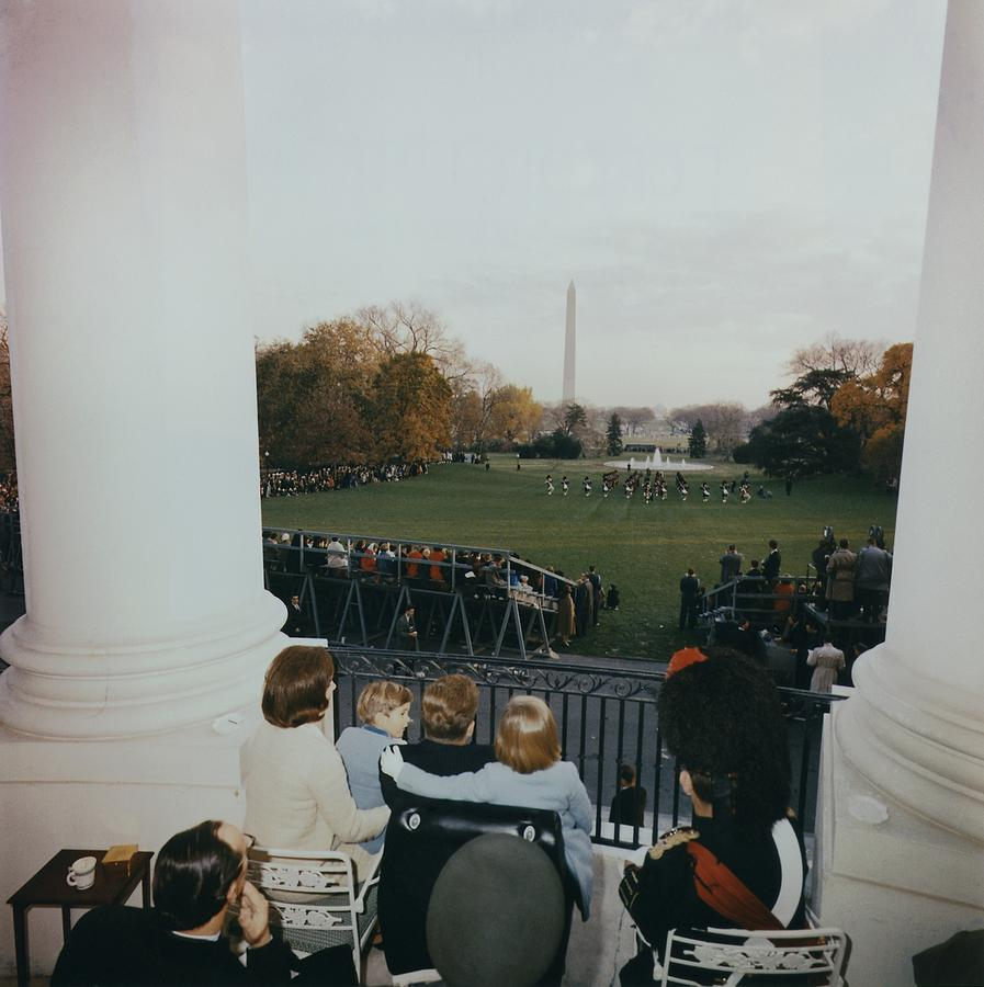 President Kennedy And His Family Watch Photograph
