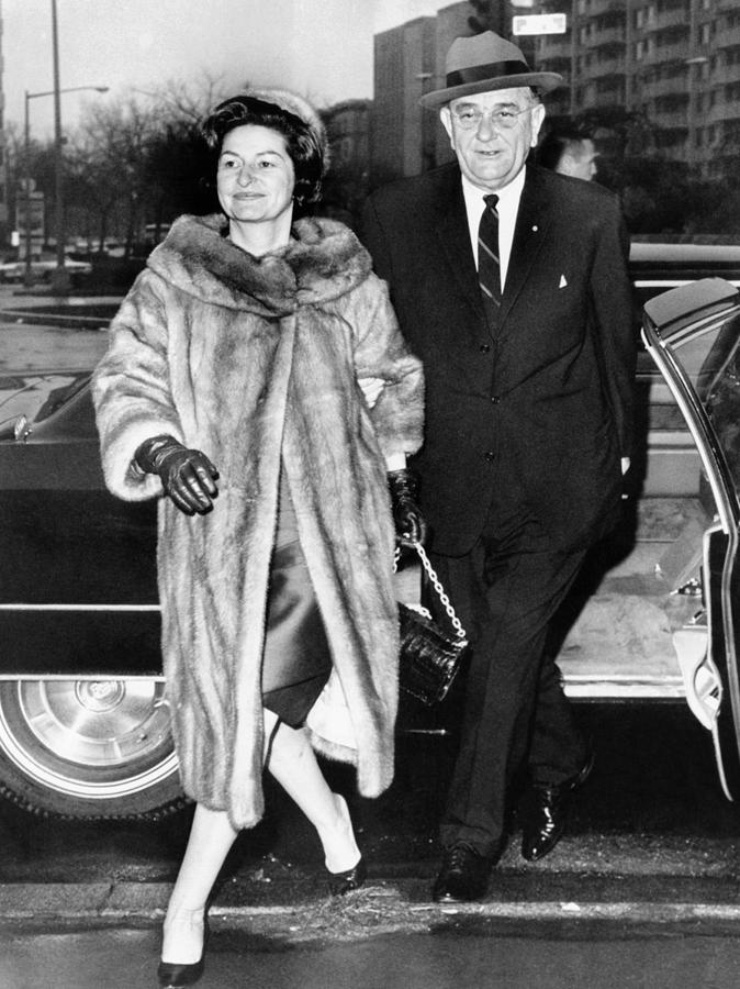 President Lyndon And Lady Bird Johnson Photograph  - President Lyndon And Lady Bird Johnson Fine Art Print