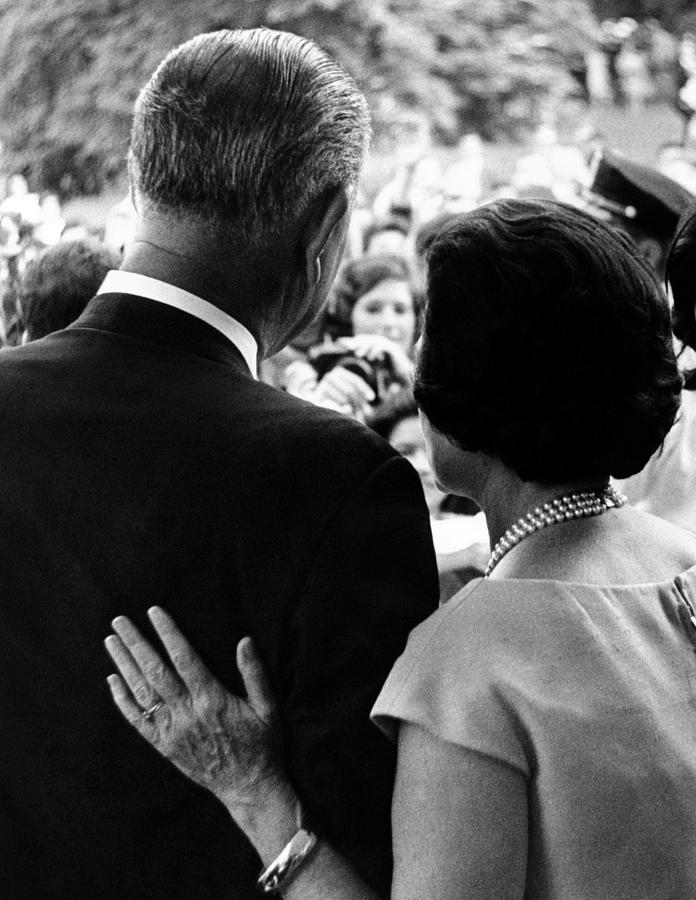President Lyndon Johnson And Wife Lady Photograph
