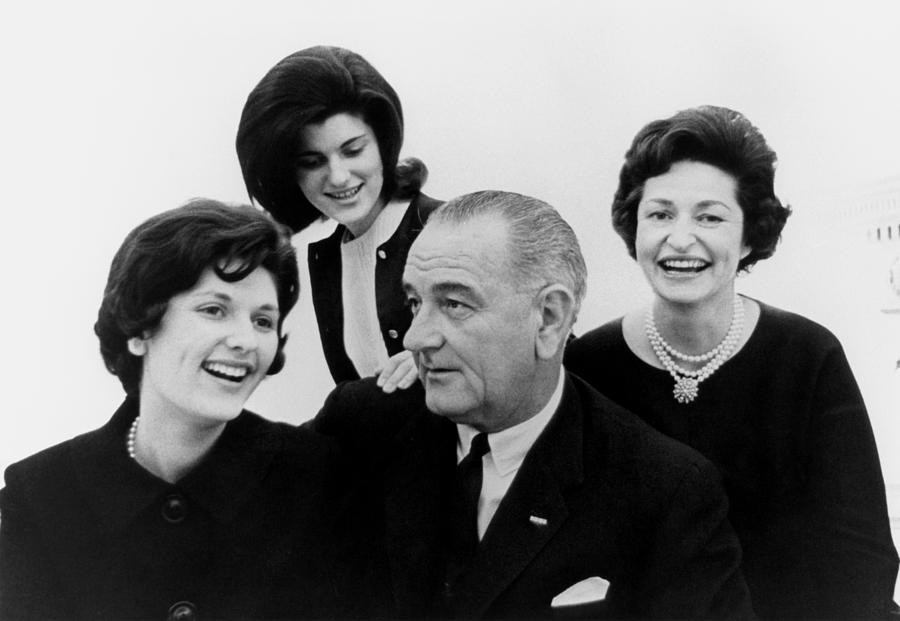 President Lyndon Johnson Family Photograph  - President Lyndon Johnson Family Fine Art Print