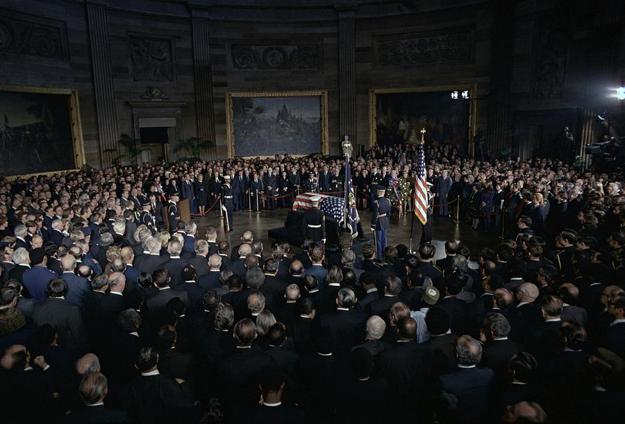 President Lyndon Johnson Lying In State Photograph