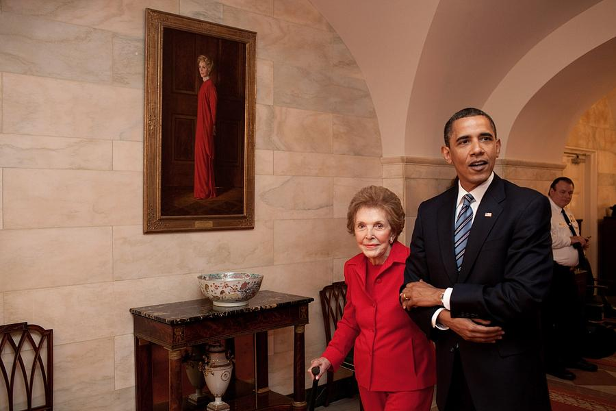 President Obama And Former First Lady Photograph  - President Obama And Former First Lady Fine Art Print