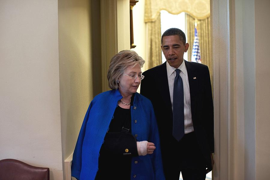 President Obama And Hillary Clinton Photograph
