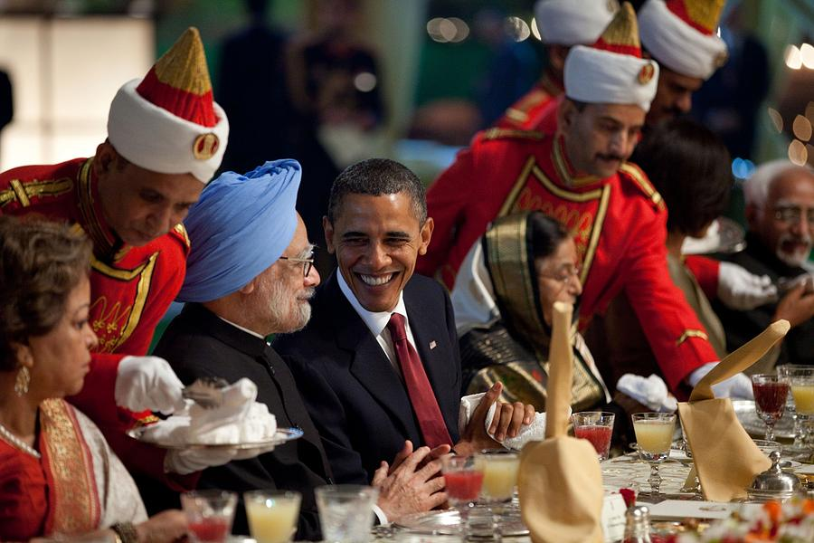 History Photograph - President Obama And Indian Prime by Everett
