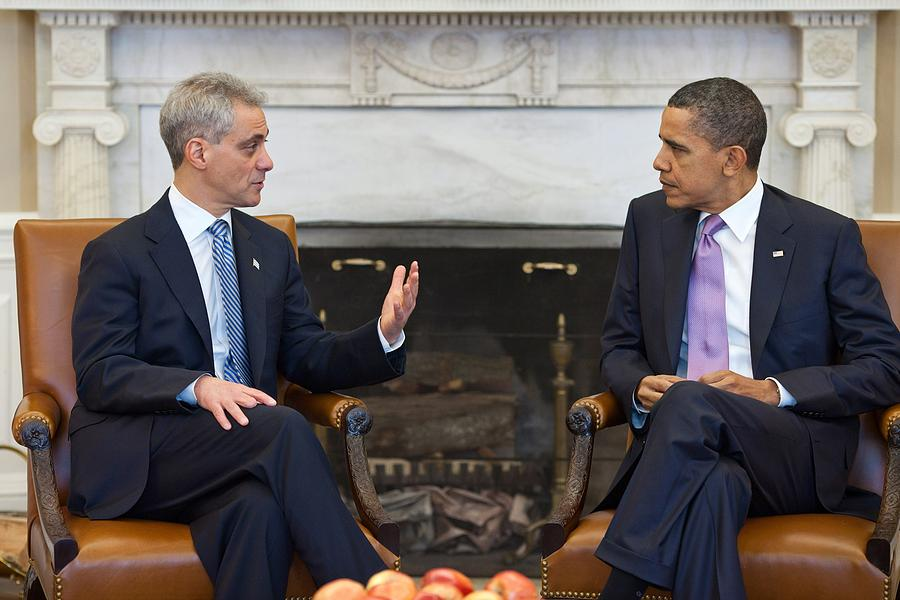 President Obama Meets With Chicago Photograph