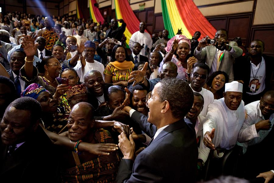 President Obama Shakes Hands Photograph