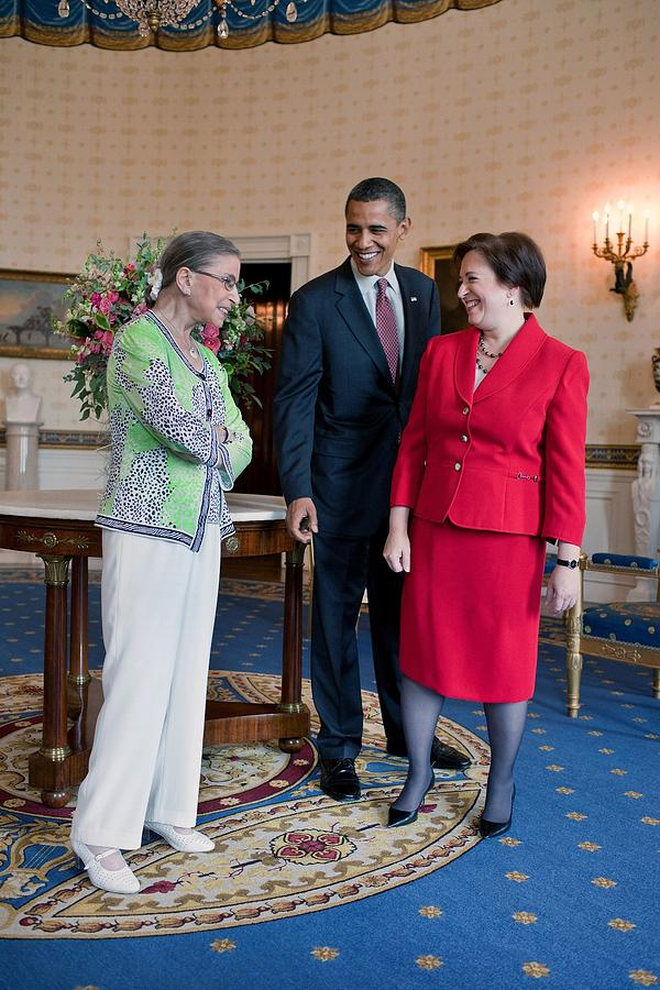 President Obama Visits With Justice Photograph