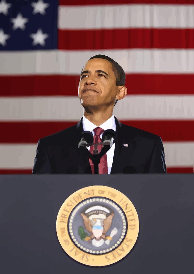 President Obama Painting