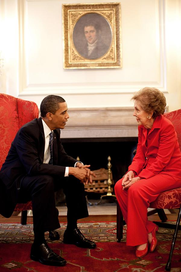 President Obama With Former First Lady Photograph
