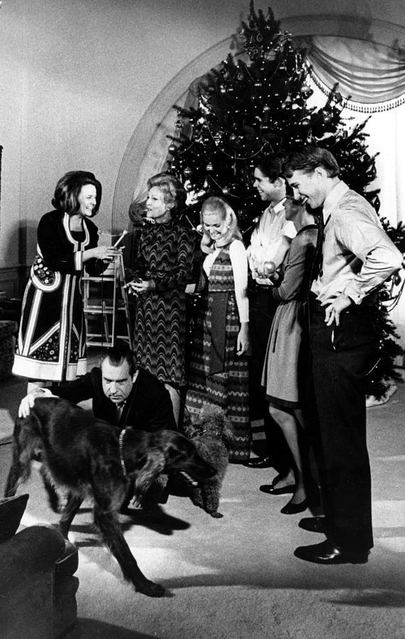President Richard Nixon And Family Photograph