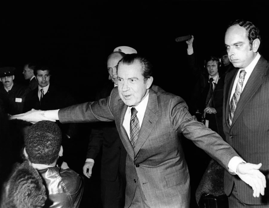 President Richard Nixon Extends Himself Photograph  - President Richard Nixon Extends Himself Fine Art Print