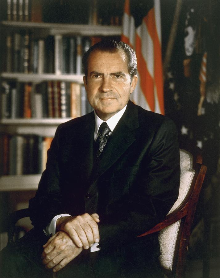 President Richard Nixon In An Official Photograph  - President Richard Nixon In An Official Fine Art Print