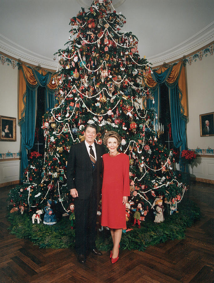 President Ronald Reagan, First Lady Photograph