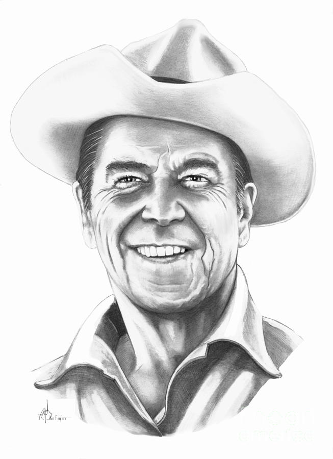President Ronald Regan Drawing