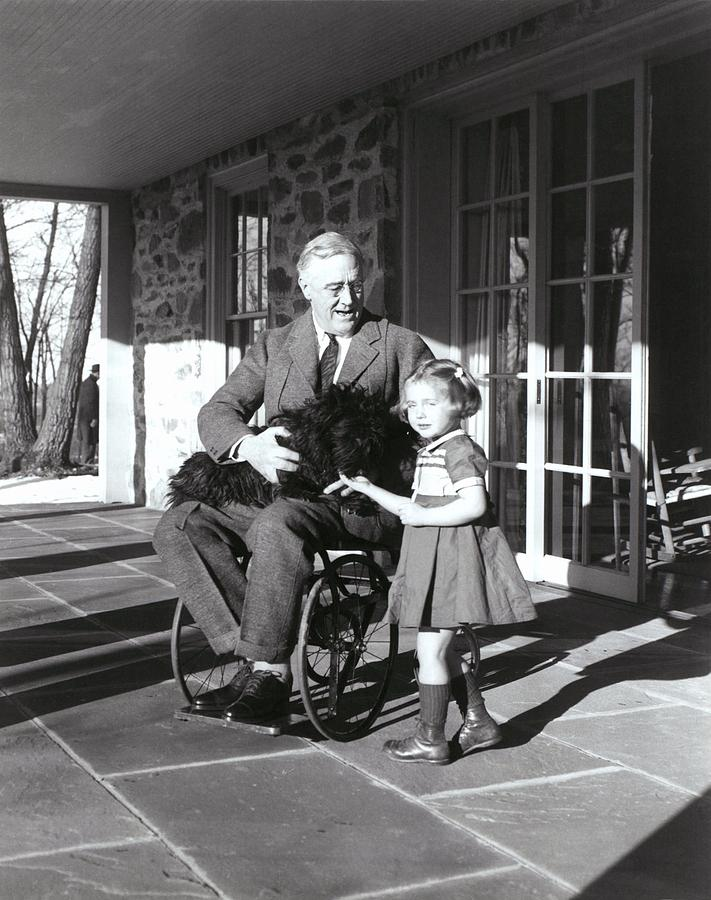 President Roosevelt In His Wheelchair Photograph  - President Roosevelt In His Wheelchair Fine Art Print