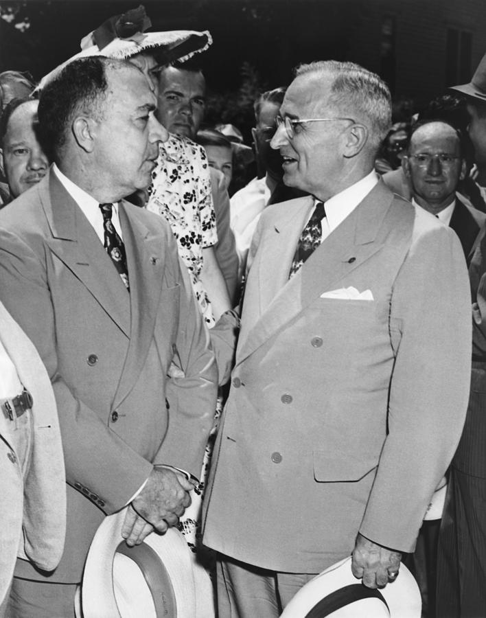 President Truman And James Pendergast Photograph  - President Truman And James Pendergast Fine Art Print