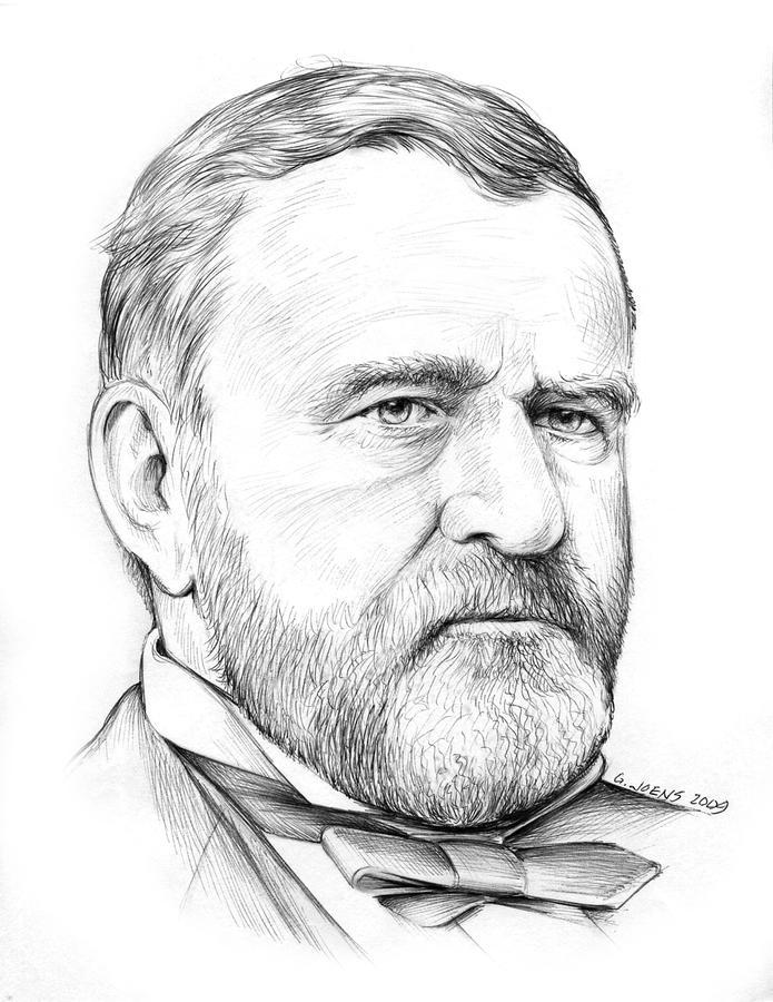 President Ulysses S Grant Drawing