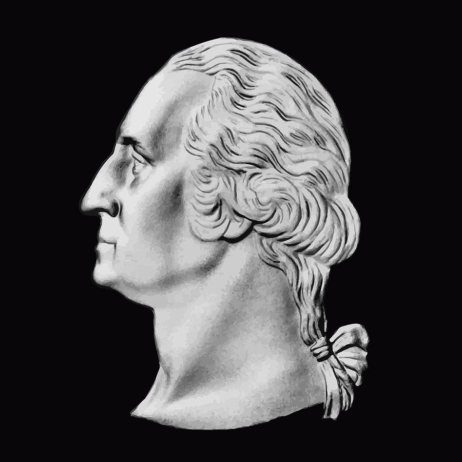 President Washington Bust  Digital Art  - President Washington Bust  Fine Art Print