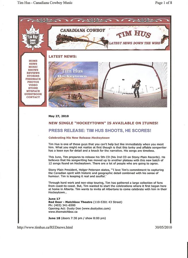 Press Release Carole Spandau Paints Cover Art For Hockeytown Cd By Tim Hus Painting